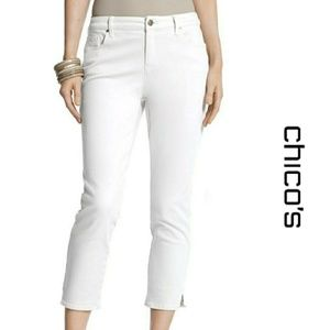 🆕Chico's Platinum Ultimate Fit White Crop Jeans